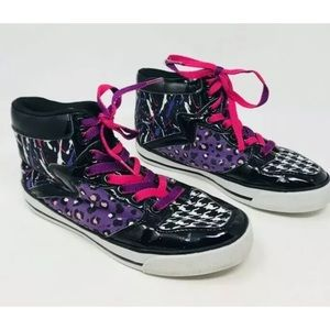 Justice Girl's High Top Sneakers Sz 4 Animal Print